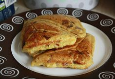 Tojás-szendvics Naan, Pancakes, French Toast, Sandwiches, Snacks, Dishes, Breakfast, Fast Foods, Desk