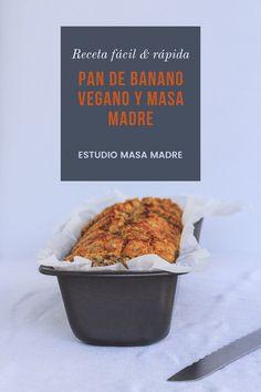 Pan de banano vegano con masa madre y frutos rojos.   #pandebanano #masamadre #banano #pandemasamadre #panconmasamadre #vegano Pan Rapido, Muffin, Breakfast, Food, Bread Recipes, Vegan Recipes, Almonds, Breads, Sourdough Bread