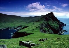 St Kilda - view back from The Cambir with Mullach Bi on the right, Scotland