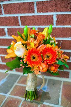 Bridesmaid's bouquet.