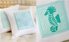 Pillows http://www.thredpillows.com/  MOLAS