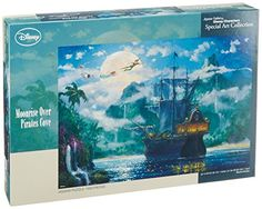 Disny Jigsaw Puzzle  Moon Rise Over Pirates Cove D1000416 1000 pices ** Want to know more, click on the image.