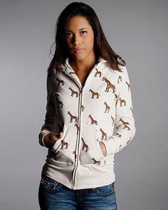 ShopStyle: Primp Giraffe Hoodie