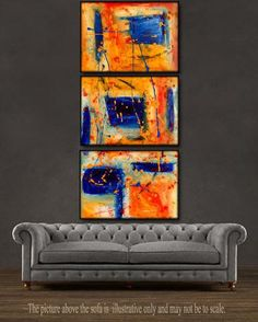 "'Golden Era'  - 48"" X 20"" Original Paintings . Free shipping within USA & 30 day return policy. - Lulu's Gallery of Fineart"