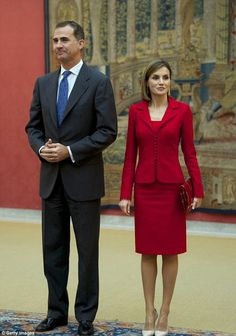 Queen Letizia and King Felipe attended the Cervantes Institute Annual Meeting at Royal Palace of El Pardo on October 19, 2015 in Madrid, Spain.