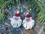 Free Brick Stitch Seed Bead Patterns smiling snowman earrings santa earrings…