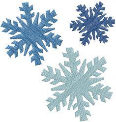 Snow Snowflakes embroidery design  AnnTheGran.com