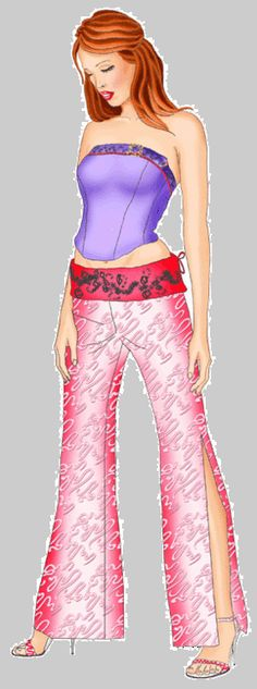 Modern Sewing Patterns : Pants with decorative waistband
