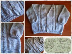 Norobe: Jersey celeste de crochet