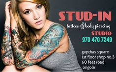 welcome 2 STUD-IN TATTOO STUDIO  GUPTHAS SQUARE, FIRST FLOOR ,SHOP NO : 3 ONGOLE, 523001  email: studinstudio@gmail.com email:deepaknaidu7@gmail.com  twitter: https://twitter.com/studinstudio Instagram: http://instagram.com/buntybugs Blogger : http://stud-instudio.blogspot.in/ phone :9032733997 , 9704707249 whats app:9848588693