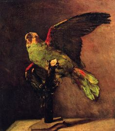 The Green Parrot, 1886, Vincent van Gogh.