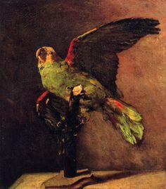 The Green Parrot, 1886, Vincent van Gogh.