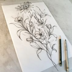 Bird And Flower Tattoo, Tattoo Flash Art, Google Doodles, Tattoo Sketches, Inked Girls, Tattoo Artists, Photo And Video, Tattoos, Bouquet