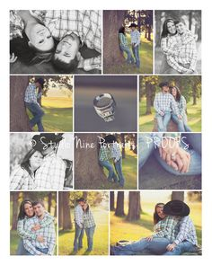 summer engagement session www.studionineportraits.com  cowboy, country engagement