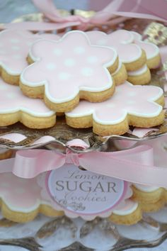 Lemon sugar cookies from Adell Shneer for a Sweet Design Company dessert table.