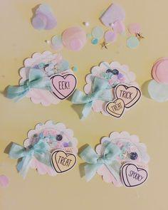 100 Heart shape embellishments for card making scrapbooking  Pink brown Vintage