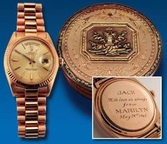 President John F. Kennedy wore a Rolex Presidential given to him by Marilyn Monroe. A true classic in luxury timepieces!