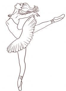 How to Draw a Ballerina, Step by Step, Figures, People, FREE Online Drawing Tutorial, Added by Dawn, April 13, 2009, 4:18:43 am: