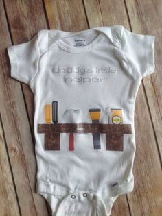 Daddy's Little Helper Toolbelt Baby Onesie  You by sweetdahliashop, $10.00