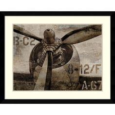 Shop for Framed Art Print 'Vintage Propeller' by Dylan Matthews 41 x 33-inch. Get free delivery at Overstock.com - Your Online Art Gallery Store! Get 5% in rewards with Club O! - 16432972
