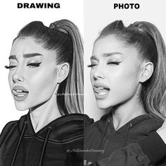 Drawing vs photo  @arianagrande