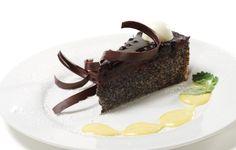Čokoládovo-maková torta so sirupom z jakonu
