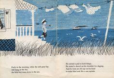 Illustration by Roger Duvoisin for Alvin Tresselt's book I Saw The Sea Come In