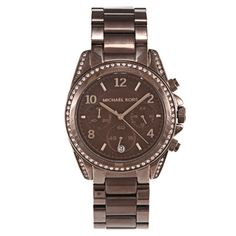 @Overstock - This deceptively simple Michael Kors women's watch blends a brown chronograph dial and stainless steel case to create an understated, classy timepiece. The Runway features luminescent hands and numbers, quartz movement, and water resistance to 330 feet.http://www.overstock.com/Jewelry-Watches/Michael-Kors-Womens-Runway-Watch/6460860/product.html?CID=214117 $167.99