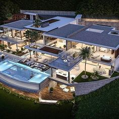 Dream home modern architecture House Rooms Luxury House Rooms iDeas Dream Home Design, Modern House Design, Beautiful Modern Homes, Dream Mansion, Mega Mansions, Mansion Interior, Luxury Homes Dream Houses, Modern Mansion, Dream House Exterior