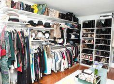 The Coveteur - Jen Atkin & Mike Rosenthal Wardrobe Storage, Wardrobe Closet, Closet Bedroom, Closet Space, Walk In Closet, Closet Redo, Clothing Storage, Jen Atkin Closet, Dressing Room Closet
