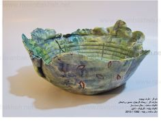 pottery make by reyhaneh gorjian and painting by hossein ravanbakhsh.