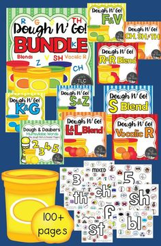 Articulation and Multisyllabic (2, 3, 4, & 5 syllable) Dough Mats Bundle