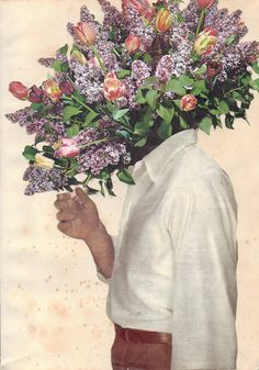 "Saatchi Online Artist: Joe Webb; Photomontage, 2012, Assemblage / Collage ""Say It With Flowers"""