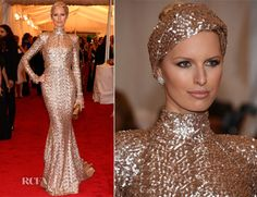 This is what the Met Gala is all about. Karolina Kurkova looks drop dead out of this word amazing. I love this look.