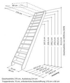 New building stairs exterior 27 ideas Loft Staircase, Attic Stairs, Staircase Design, Garage Stairs, Tiny House Stairs, Flooring For Stairs, Building Stairs, Wooden Stairs, Attic Remodel