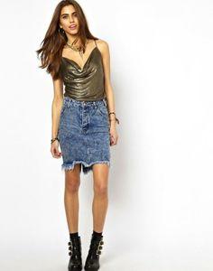 cmo combinar la falda vaquera fotos d elos modelos