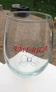 Future First Lady  - America Wine Glass (15oz), $9.99 (http://www.futurefirstlady.net/america-wine-glass-15oz/)