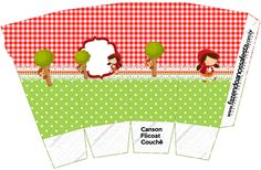 Red Riding Hood Party, Baby Prints, Little Red, Party Printables, Woodland, Birthday Parties, Kids Rugs, Crafts, Popcorn Boxes