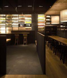 Bar restaurant and bar displays on pinterest for Modern wine bar design