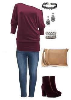 """Fall days"" by frugalsues on Polyvore featuring Seven7 Jeans, Charlotte Russe, Express and plus size clothing"