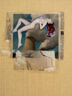 "Saatchi Art Artist Larry John McNally; Collage, ""Shine"" #art"