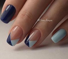 Nails 9 classy office nails designs to wear all year – stylishwomenoutfi. What Makes For The Perfe Simple Nail Art Designs, Fall Nail Designs, Beautiful Nail Designs, Easy Nail Art, Navy Blue Nail Designs, Classy Nail Designs, Simple Art, Office Nails, Manicure Y Pedicure