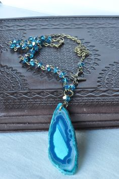 A Slice of Heaven Turquoise Agate Beaded Necklace £14.00