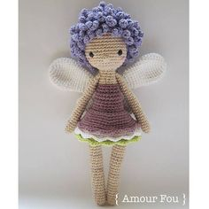 { This is a CROCHET pattern in a PDF file, NOT the finished doll. If your are looking for the finished Aurélie doll, please contact me...}  This is Aurélie, the Fairy. Tell her what you wish and shell make it come true for you! This is a simple and detailed pattern. If crocheted with a 3.00 mm hook, your finished Aurélie should measure more or less 32 cm. Skills needed: crocheting in spiral, single crochet, half-double crochet and double crochet stitches, increase and decrease stitches…