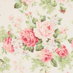 Rose Collection Rose For You Fabric White Roses by Quilt Gate