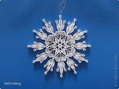 Поделка изделие Новый год Квиллинг snowflakes Бумажные полосы фото 2