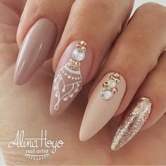 35 Simple Ideas for Wedding Nails Design - Diy Wedding Nails - Diy Wedding Nails, Wedding Nails Design, Jamberry Wedding, Bling Wedding, Elegant Wedding, Wedding Bride, Nude Nails, My Nails, Acrylic Nails