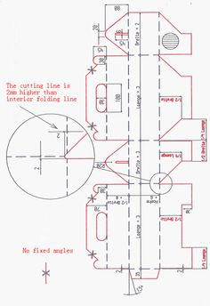 die line drawings