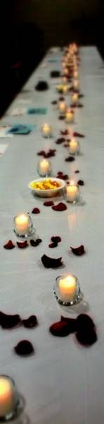 Just Lovely... &  So Simply Finished...A Dusting of Rose Petals & Candlelight