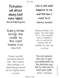 Motivation and Success Quotes Sticky Notes